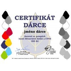Certifikát dárce 300kč