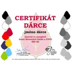 Certifikát dárce 600kč