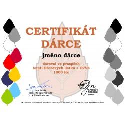 Certifikát dárce 1000kč