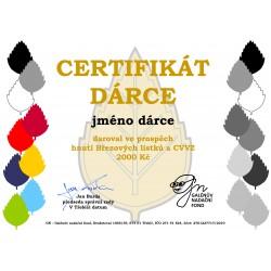 Certifikát dárce 2000kč