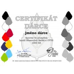 Certifikát dárce 1500kč