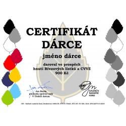Certifikát dárce 900kč