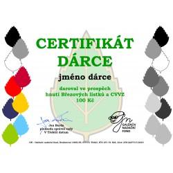 Certifikát dárce 100kč